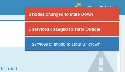 State changes on Statusengine Dashboard