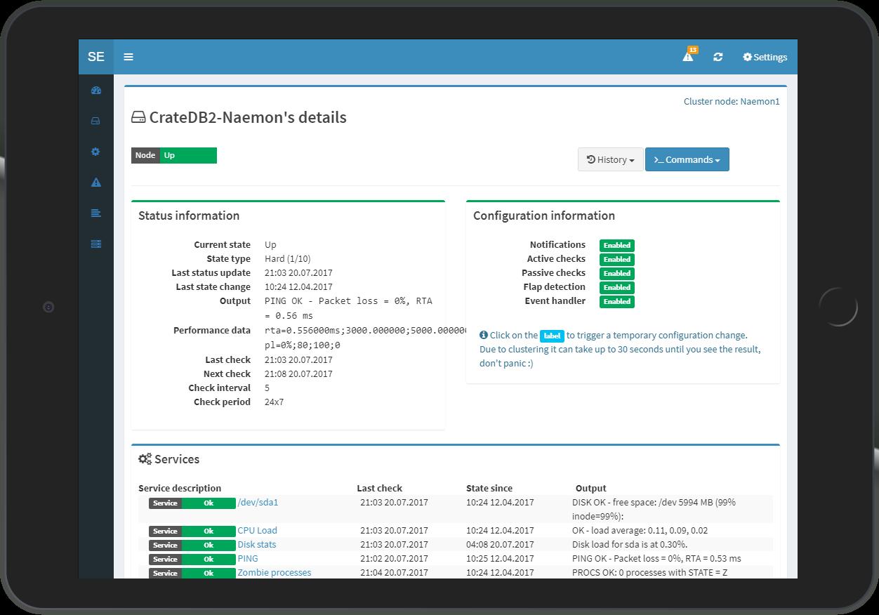 Statusengine 3 UI - Node Details