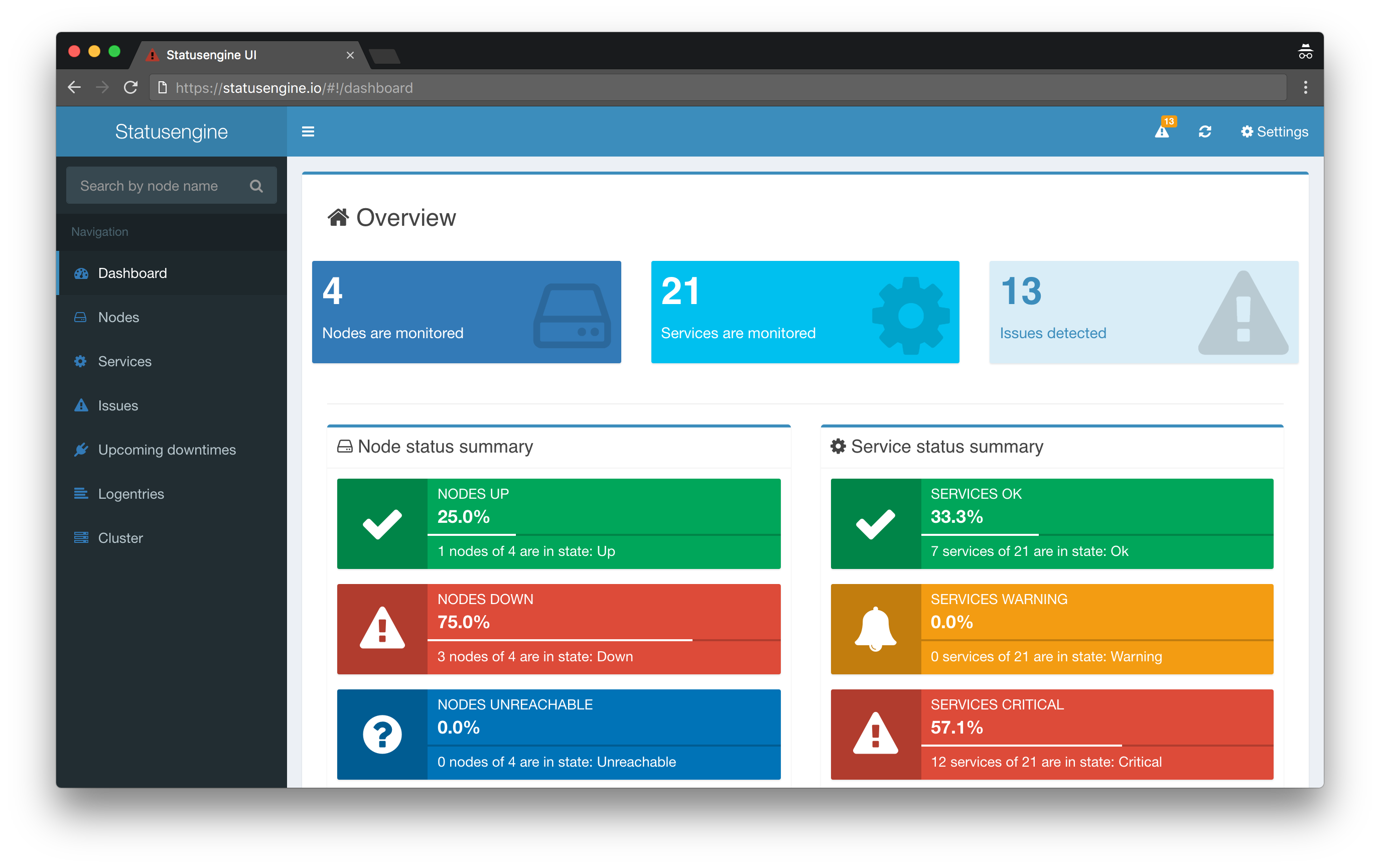 Statusengine 3 Web Interface