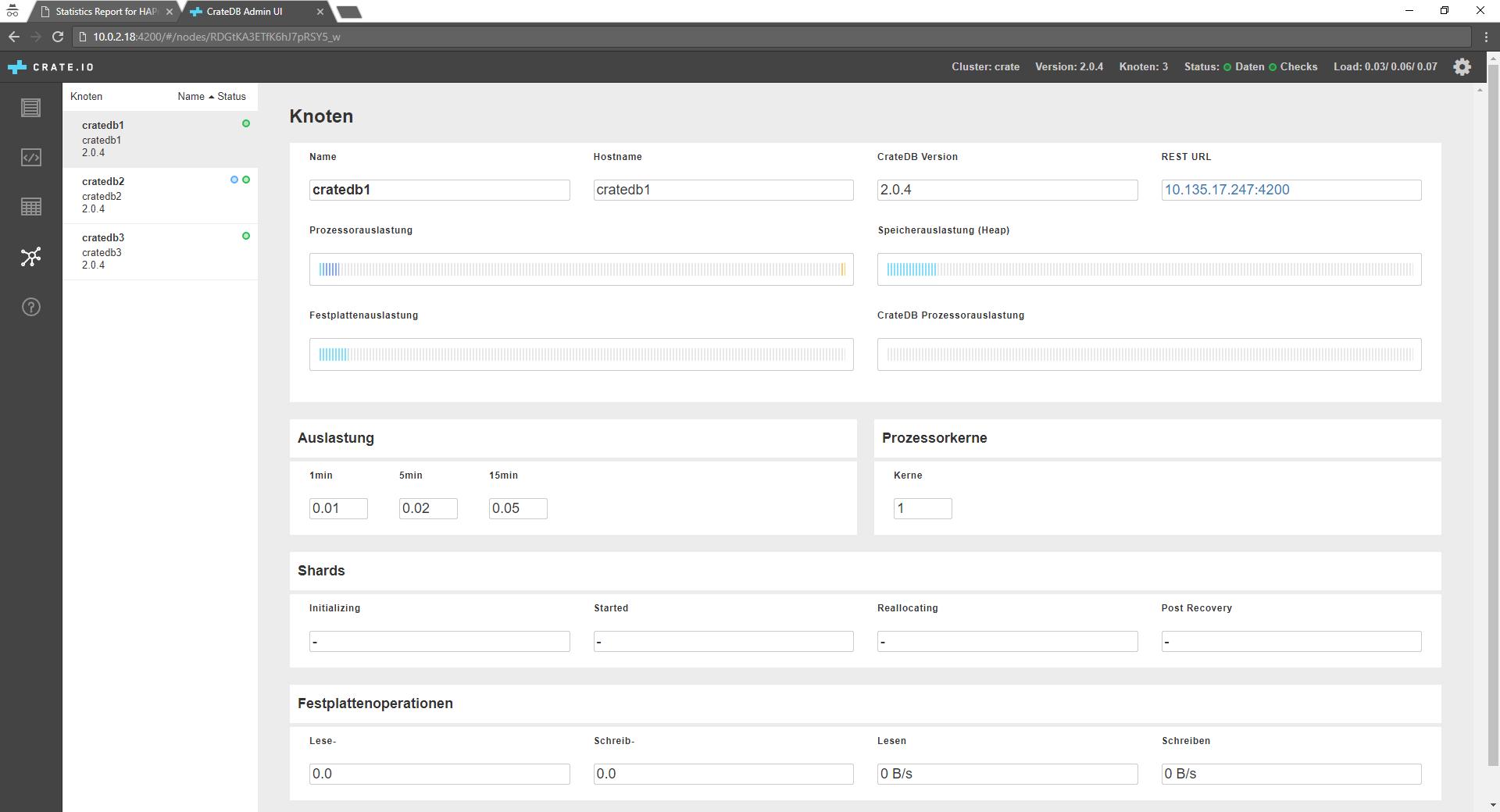 Setup a CrateDB 3 Node Cluster on Ubuntu behind HAProxy