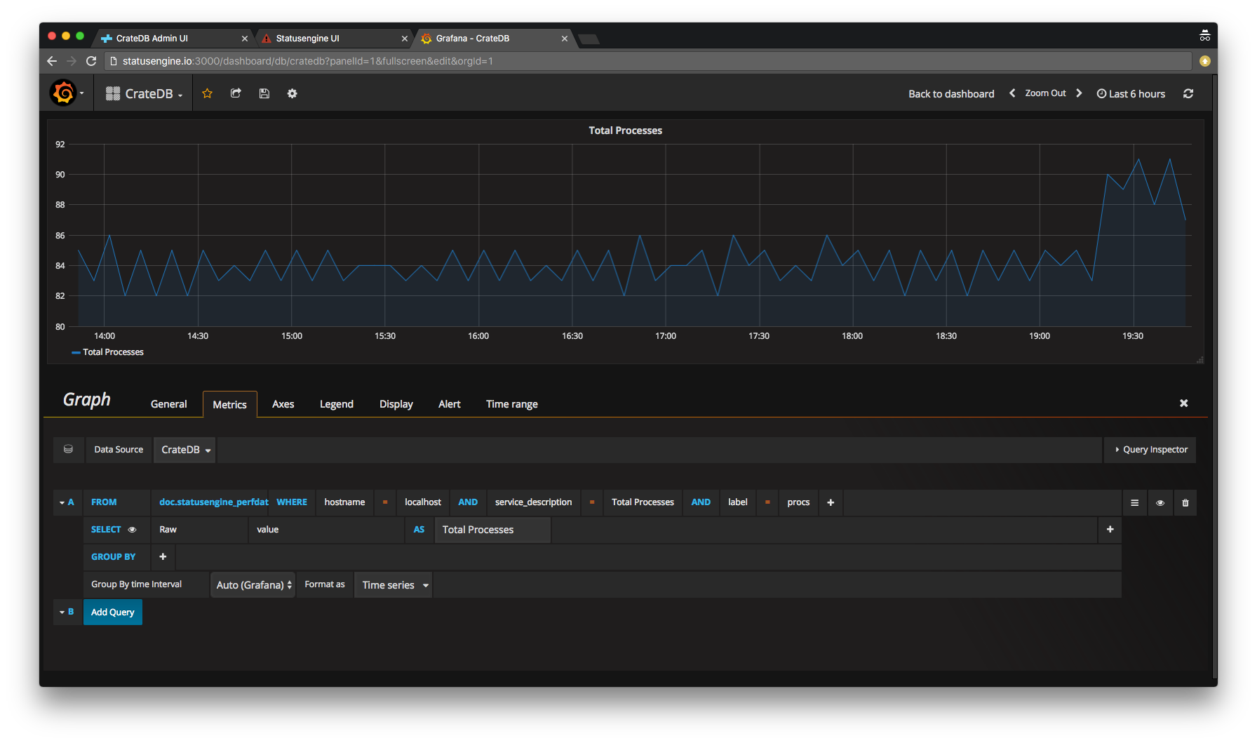 Query data from CrateDB with Grafana