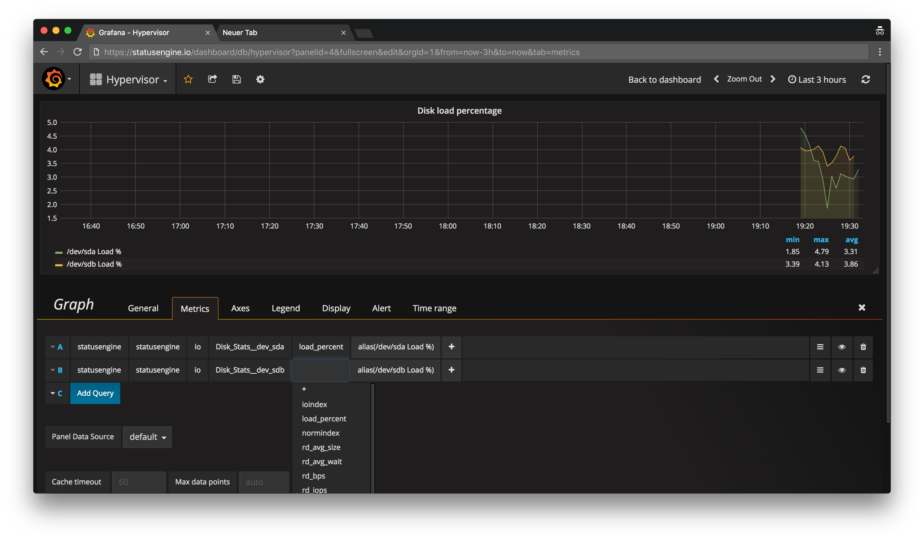 Create the first Graph in Grafana