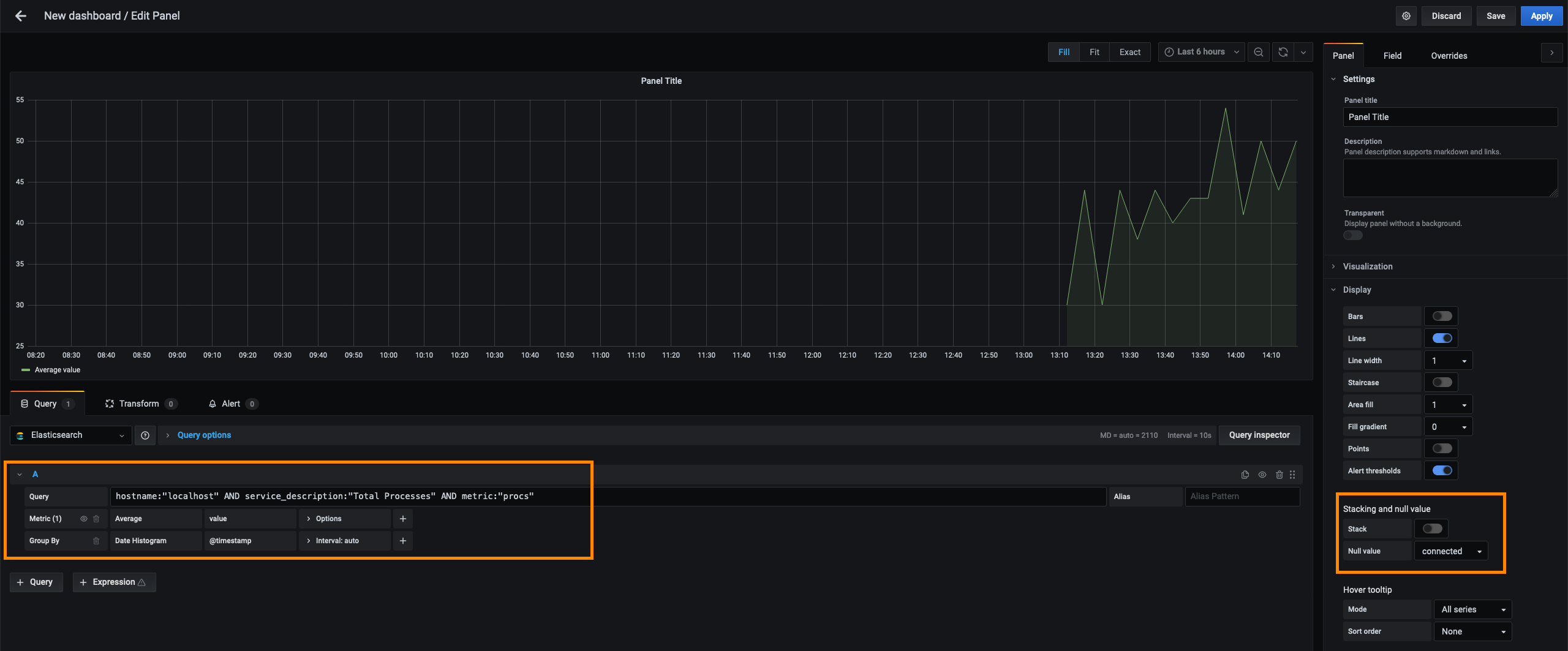 Query data from Elasticsearch with Grafana