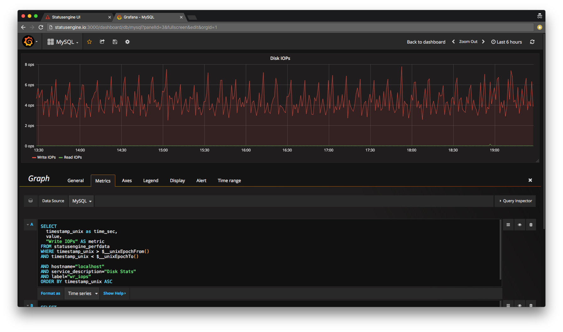 Query data from MySQL with Grafana and set metric alias
