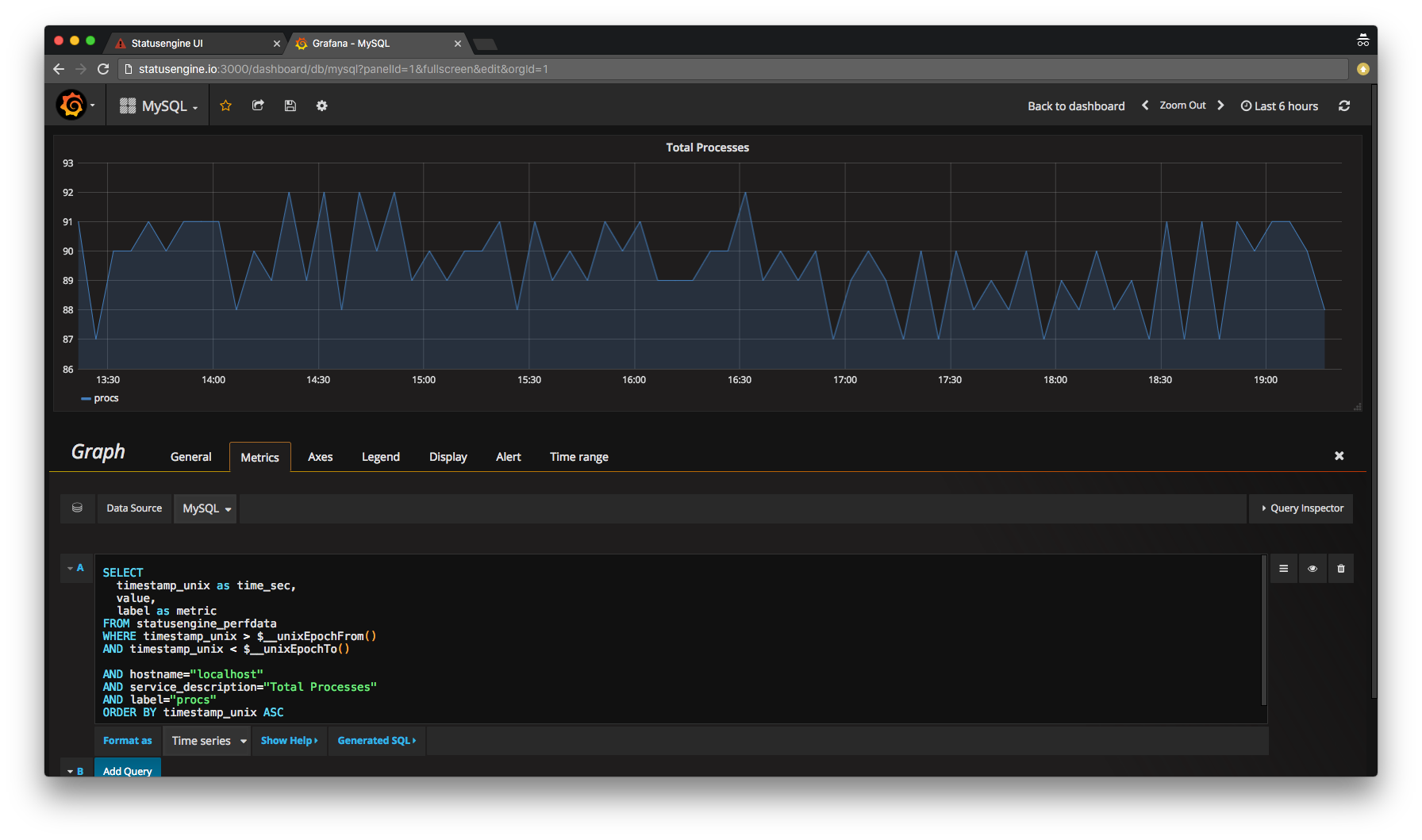 Query data from MySQL with Grafana