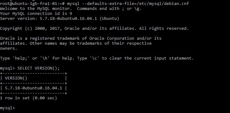 MySQL login via debian-sys-maint