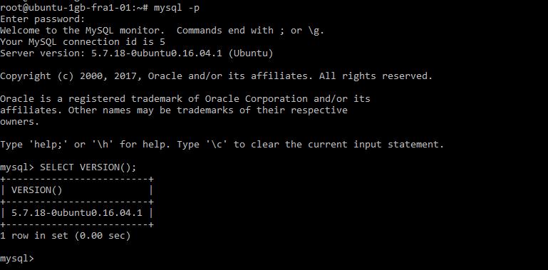MySQL login